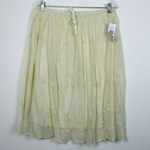 Tommy Hilfiger Womens Skirt Midi Lace Embroidered